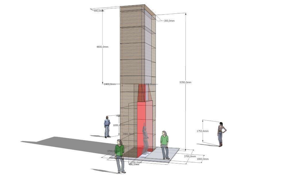 Über Eck Konstrukt (Wettbewerb Uni Heidelberg)