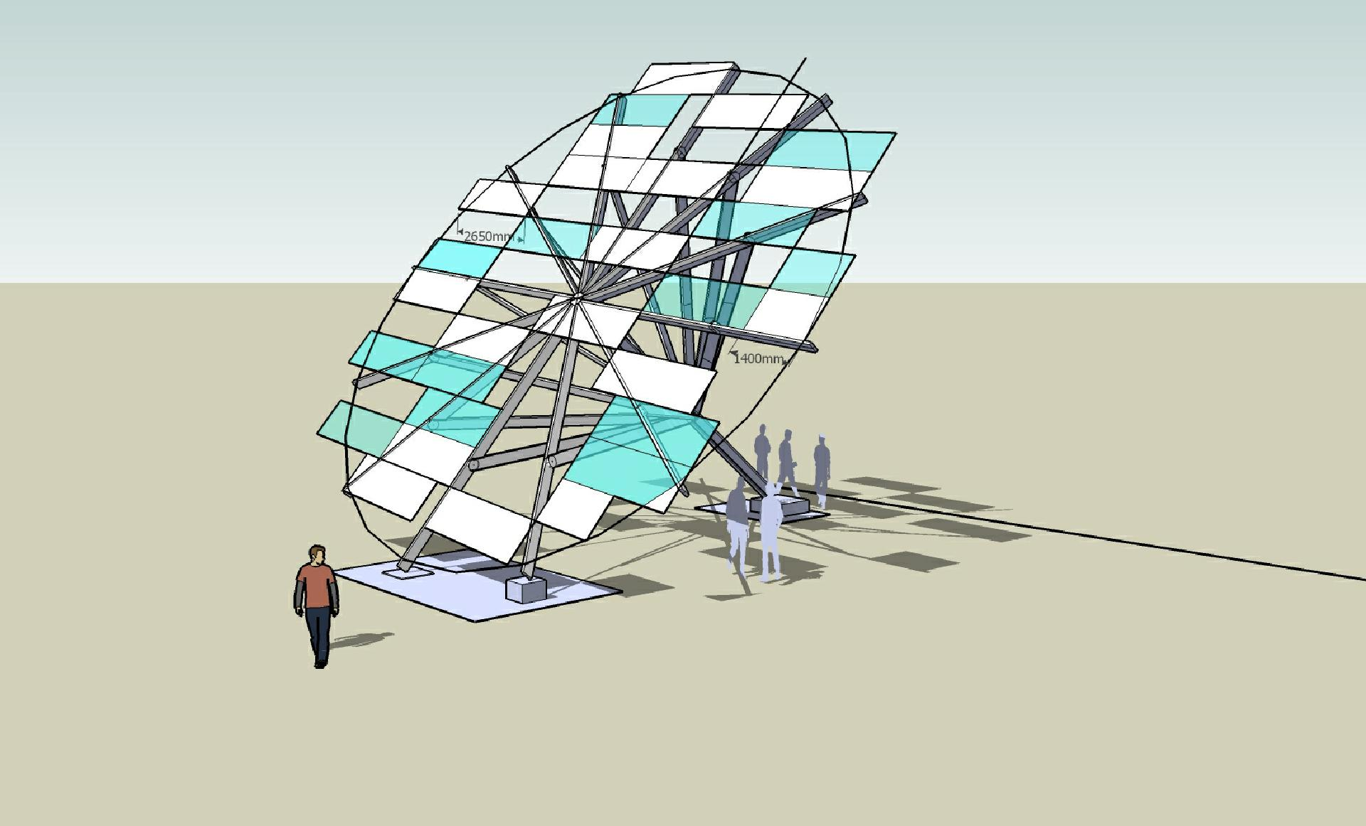 Konstruktion Raumblume